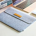 """Inateck 12.3-13 Inch Laptop Sleeve Case Compatible with 2020 MacBook Air, MacBook Pro 13'' 2020/2019/2018/2017/2016… 14 【Fit perfectly only for Apple 12 inch MacBook(Release 2017/2016/2015), and NOT FIT other models】Not designed for 11.6 inch MacBook Air and other laptops. Internal dimensions: 11.2"""" x 7.8"""" - 28.5 x 20 cm; External dimensions: 12.2& x 8.7& - 31 x 22.2 cm High-quality felt outside and soft flannel inside. Practical design and exquisite workmanship; Durable and sustainable."""