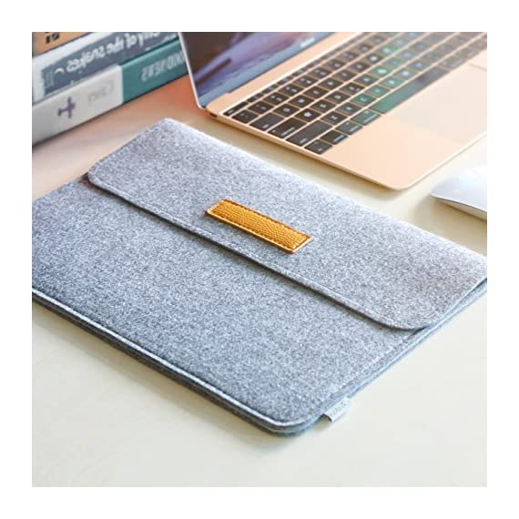 """Inateck 12.3-13 Inch Laptop Sleeve Case Compatible with 2020 MacBook Air, MacBook Pro 13'' 2020/2019/2018/2017/2016… 7 【Fit perfectly only for Apple 12 inch MacBook(Release 2017/2016/2015), and NOT FIT other models】Not designed for 11.6 inch MacBook Air and other laptops. Internal dimensions: 11.2"""" x 7.8"""" - 28.5 x 20 cm; External dimensions: 12.2& x 8.7& - 31 x 22.2 cm High-quality felt outside and soft flannel inside. Practical design and exquisite workmanship; Durable and sustainable."""