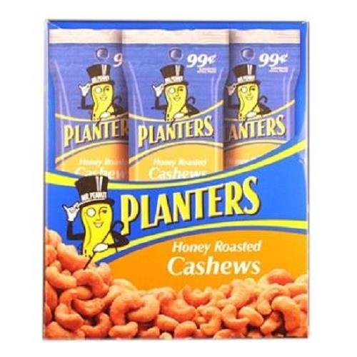 low-pricing Planters Honey Roasted Cashew Tube .99 1.5 Ounce Each New sales Count 18