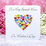Handmade Mother's Day Card - To A Very Special Mum - Colourful 3D Hand Made Love Heart