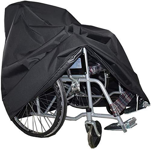 YSJYYHP wasserdichte Abdeckung für Rollstuhlfahrer, Oxford wasserdichte Abdeckung für selbstfahrende Rollstühle, staubdichte Winddichte Schutzabdeckung,Schwarz,100x75x100cm