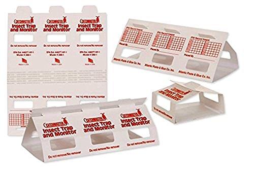 Catchmaster Insect Trap & Monitors 288i - No Chemicals !!!- Non-Toxic Glue Traps!! 10 Glue Boards / 30 Monitors