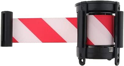 f/ür Sport//Warteschlange//Sicherheit//Crowd Control Seil Wandhalterung SAXTEL Absperrgurt zur Wandmontage Edelstahl einziehbar