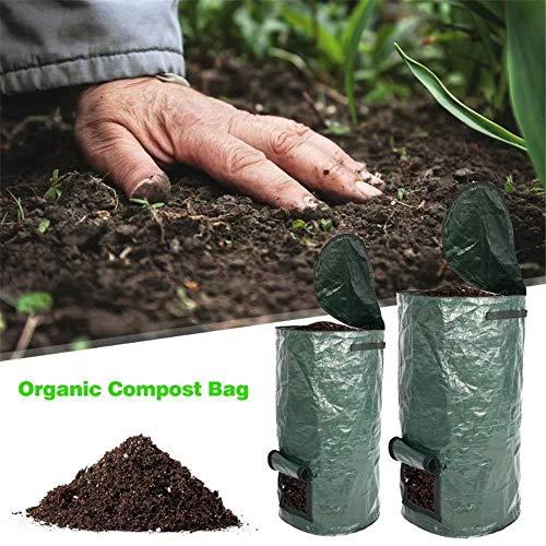 Waste Compost Bag Kitchen Probiotics Bags Homemade Organic Ferment PE Compost Bag Ferment Disposal Vegetable Grow Bag Garden Waste Trash Garbage Bags