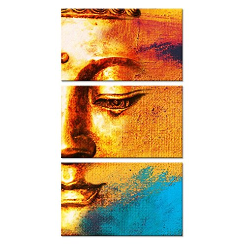 Kreative Arts - 3 Panels Canvas Prints Zen Art Wall Decor Vintage Buddha Painting Modern Home and Office Decor Photos to Prints Paintings on Canvas 12x20inchx3pcs …