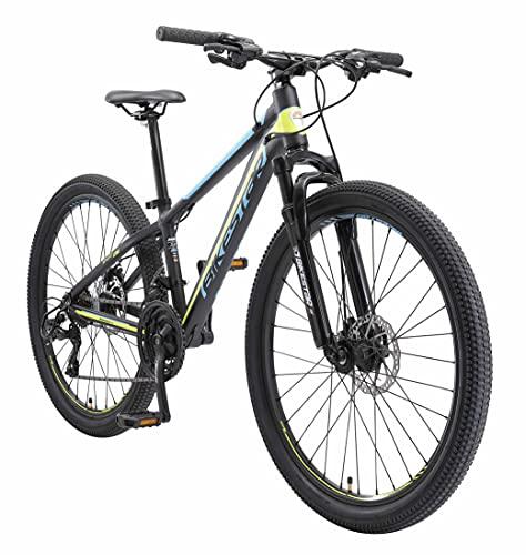BIKESTAR Bicicleta de montaña Hardtail de Aluminio, 21 Marchas Shimano 26' Pulgadas   Mountainbike con Frenos de Disco Cuadro 13' MTB   Negro Amarillo