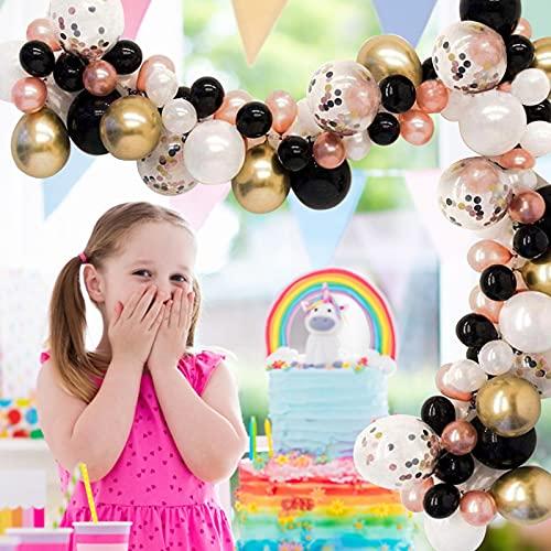 YngFfb Kit De Arco De Guirnalda De Globos, 110 PCS Decoraciones Para Fiesta De Cumpleaños Globos, Globos De Helio De Látex Metálico Para Decoraciones De Eventos De Graduación De Fiesta De Cumpleaños
