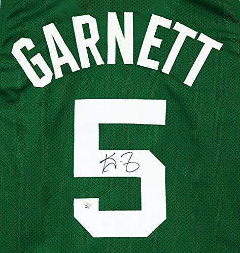 Kevin Garnett Boston Celtics Signed Autographed Green #5 Custom Jersey PAAS COA