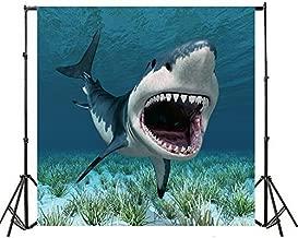 Yeele 8x8ft Shark Backdrops Marine Overlord Underwater Predator Animal Ocean Killer Terror Fangs Photography Background Vinyl Sea Wildlife Fish Photo Shoot Studio Props