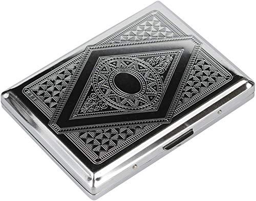 Gymqian Cagarte Caseblocking Historio Victoriano Clásico Metalica Color de Plata Doble Superior Y Tarjeta de Tarjeta de Crédito de Tarjeta de Crédito impermeable