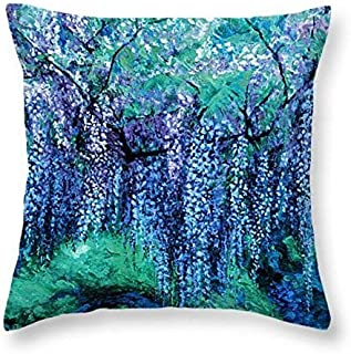 """The Wind Whispers Wisteria, Ocean - 16"""" Throw Pillow"""