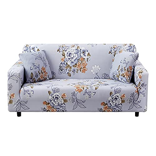 WXQY Elastischer Sofabezug, L-förmiger modularer Sesselbezug, Möbelschutzbezug, Handstuhlbezug Couchbezug A6 4 Sitzer