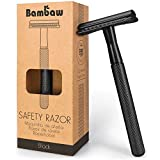 Metal Safety Razor for Men | Black Razor | Metal Shaver | Zero Waste Products | Reusable Razor | Waste Free Men's Razor | Fits All Double Edge Razor Blades | Beard Razor | DE Safety Razor | Bambaw