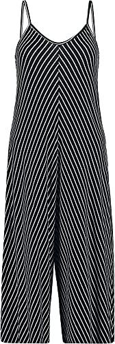 Hailys Lila Frauen Jumpsuit schwarz/weiß S-M 95% Viskose, 5% Elasthan Basics, Streetwear