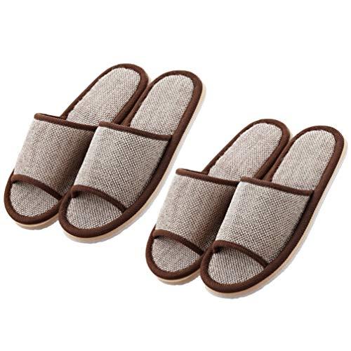 Artibetter 2 Paar Katoenen Pantoffels 29Cm Open Teen Pantoffels Het Hele Seizoen Antislip Pantoffels Flip Flop Pantoffels Voor Hotelkoffie Thuis
