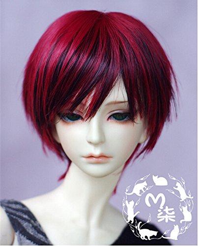 Tita-Doremi BJD Pullip SD Red Mix Black Wig Hair 8-9\