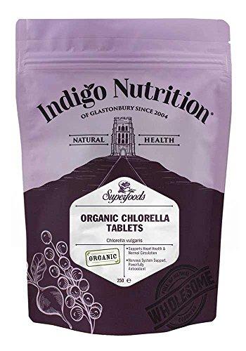 Indigo Herbs Chlorelle Bio en comprimés - 250 comprimés (500mg)