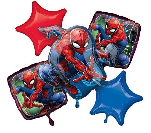 Amscan 3466701 - Globos de helio con diseño de Spiderman, 5 globos