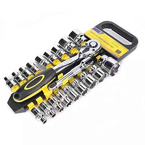 NSHDR Llave de trinquete reversible 1/2 pulgada Llave de trinquete Socket Set de liberación rápida 72 dientes CRV Kit de herramientas de reparación hecho de acero