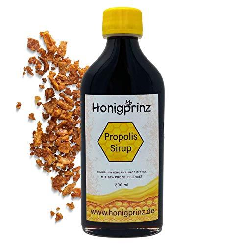 Propolis Sirup Alkoholfrei (auch für Kinder ab 4 Jahren) mit natürlichem Propolis, Honig, Salbei und Sonnenhut 200ml Naturlich, (1 x 200ml)