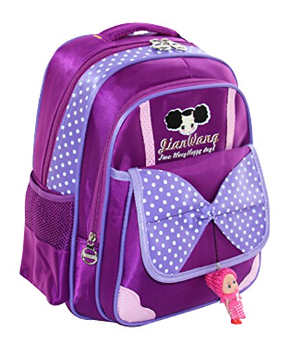 NEW Petit sac à dos Fresh Fashion Sac à dos mignon nœud papillon violet