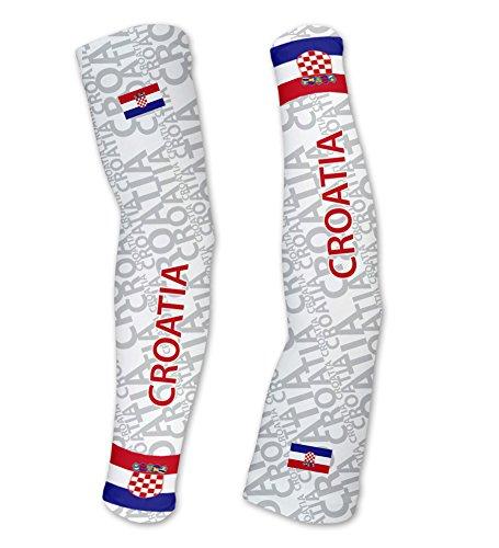 ScudoPro Croatia Kompressionsärmel mit UV Schutz – Radsport – Laufen – Golf – Basketball.