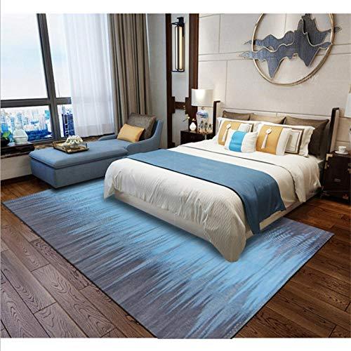 MAUSX Teppich Mode Europa Und Amerika Farbverlauf Blau Grau Teppich Teppiche Und Teppichböden Für Zuhause Wohnzimmer Schlafzimmer Teppich Kinderzimmer 45X75CM