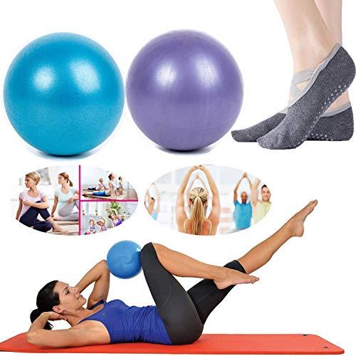 2 Stück Mini-Gymnastikbälle - Professioneller Anti-Burst-Hochleistungs- und rutschfester kleiner Pilates-Ball für Yoga-Fitness-Stabilität Barre Balance-Training Physiotherapie, ca. 25 cm (9-10 Zoll)
