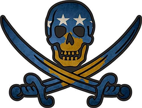 Akachafactory Sticker sticker vlag jack rackham piraat kosovo RKS