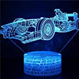 Tanque de dibujos animados avión coche barco velero tren Motorbicyle camión nave espacial coche de carreras 3D USB escritorio mesa tamp cabecera decoración dormitorio niños regalo