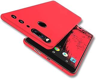 Essential Phone Case YIWANDIANZI Soft TPU Case Ultra Thin Slim Fit Anti-Fingerprint Rubber Cover for Essential Phone PH1 (Red)