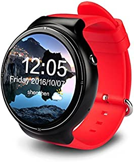 TORTOYO I4 Pro Smart Watch Phone 2GB+16GB Android 5.1 OS Wristwatch WiFi 3G GPS Heart Rate Monitor Google Play Sports Smartwatch (Red)
