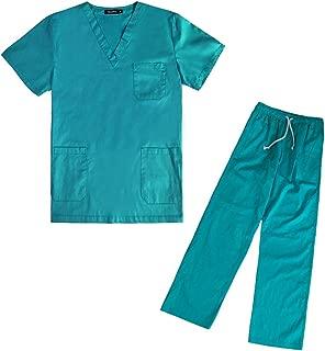 Los médicos hospitalarios de Medicina Conjuntos de Manga Corta Trajes Uniformes Dental Clinic salón de Belleza Ropa de Trabajo Ropa de enfermería Scrubs Camisetas Pantalones