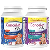 CONCEIVE PLUS His + Hers Fertility Support Supplements Prenatal Vitamins Bundle for Couples Trying to Conceive