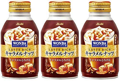 〔 北海道 沖縄県を除く〕 アサヒ WONDA ワンダ ラテリッチ キャラメルナッツ 260g ボトル缶 24本×2 まとめ買い