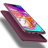 X-level Samsung Galaxy A70 Hülle, [Guardian Serie] Soft Flex Silikon Premium TPU Echtes Handygefühl Handyhülle Schutzhülle für Galaxy A70 Hülle Cover - Weinrot