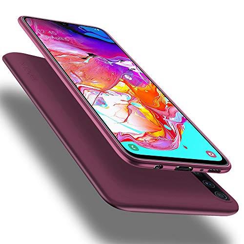 X-level Cover Samsung Galaxy A70, [Guardian Series] Ultra Sottile e Morbido TPU Protettiva Custodia Silicone Rubber Protezione Cover per Galaxy A70, Vino Rosso