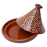 Tajín marroquí (redondo, 30 cm de diámetro, esmaltado, para cocinar de 4 a 5 personas, ...