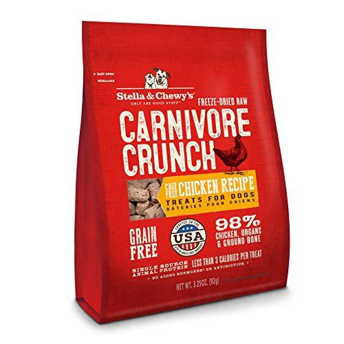 Stella & Chewys Freeze-Dried Raw Carnivore Crunch Cage-Free Chicken Recipe Dog Treats, 3.25 oz bag