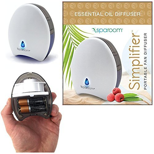 Portable SpaRoom Diffuser for Essential Oils - This Personal Diffuser is Waterless and Operated by Battery or USB + Take Your Diffuser Anywhere You go + Simplifier by The Trusted Spa Room Brand