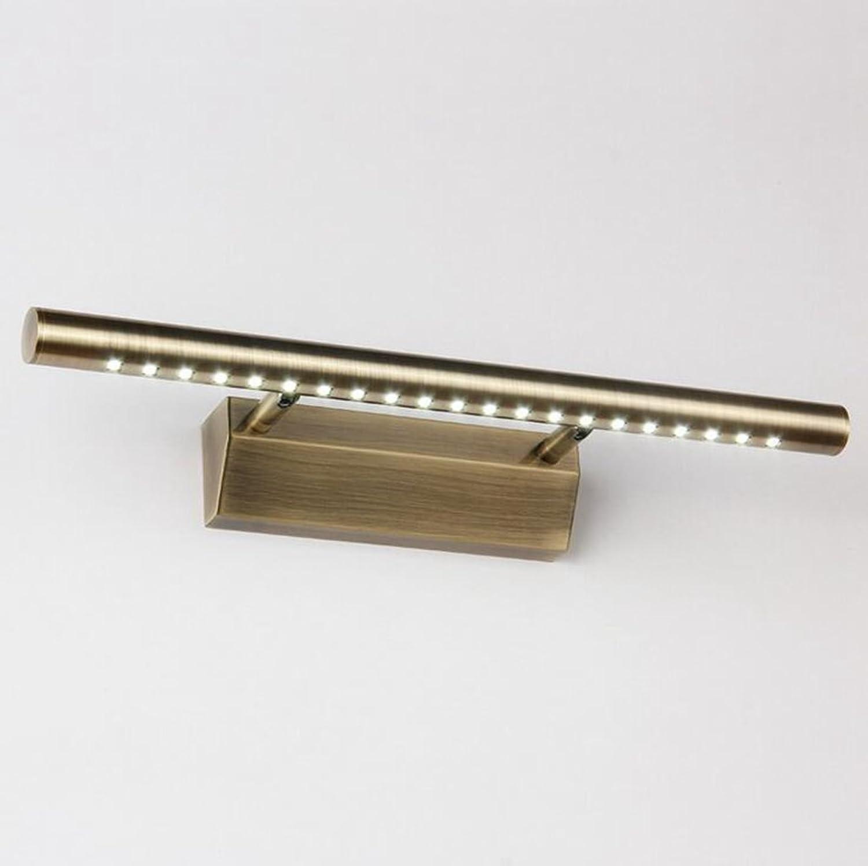 MSAJ - Europische Retro retro Wasserdicht beschlagfrei Spiegel vordere Lampe Wandleuchte Spiegelschrank Beleuchtung, 55 cm