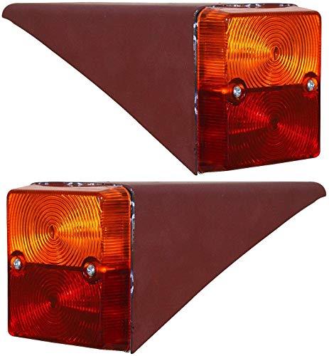 Rücklicht-Set mit Metallgehäuse, 12 V, für IHC Mc Cormick Traktoren 23 423 353 453 D323