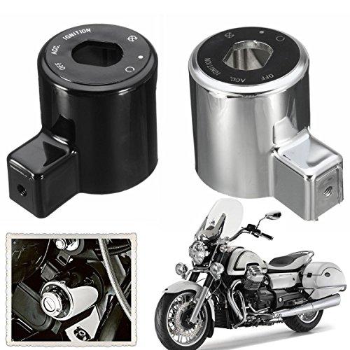 Viviance Contactslot afdekkap voor Harley Sportster Iron XL 883 Xl883N 1200 Het zwart.
