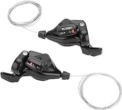 Alomejor Desviador de Bicicletas, 1 par de Engranajes de Bicicleta de 3X7 / 8/9 de Triple Velocidad = Desviador de la Caja de Cables Desviador Izquierdo/Derecho para Shimano