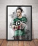 Sheldon Cooper Print Poster Watercolor The Big Bang Theory Wall Decor Canvas Wall Art Wall Poster Sheldon Cooper Home Decor Wall Art Huge Poster