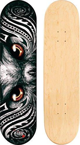 JUCKER HAWAII Skateboard/Cruiser Decks - Nuha, Bamboo, Skowl, B.Inks, Shabby, Malama Kai, Malama Aina, Valley Isle - Diverse Shapes und Designs (JUCKER HAWAII Skateboard Deck Maka 8.25)