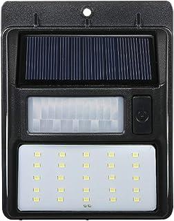 Tomshine 1 Pcs Solar Powered Lamp PIR Motion and CDS Night Sensor LED Wall Light for Outdoor Garden Waterproof 35 LEDs