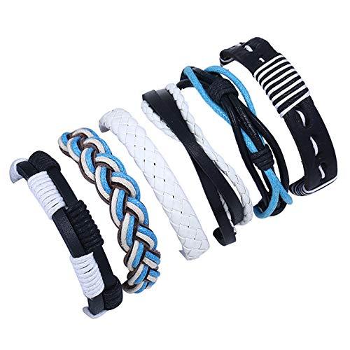 MZYZPT Europäischen Schmuck Armband Mit Lederkombi Armband DIY Armband Und Lederseil Armband