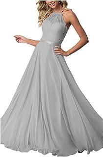 NewFex Women's Bridesmaid Dress Long Halter Aline Prom Formal Wedding Party Dress