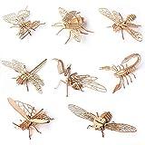 QZFH 3D Creativo de los Juguetes de Madera de Insectos Modelo de ensamblaje Rompecabezas DIY Crafts Educación niños, Regalos de la Inteligencia de los niños Formación